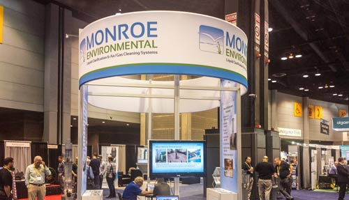 Monroe Environmental booth 2015 Weftec
