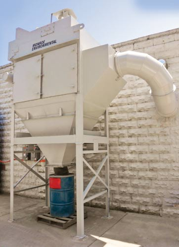 Dust Collector Captures Exhaust From Sandblasting Operation
