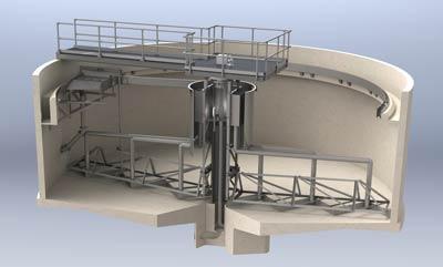 Clarifier riser pipe design