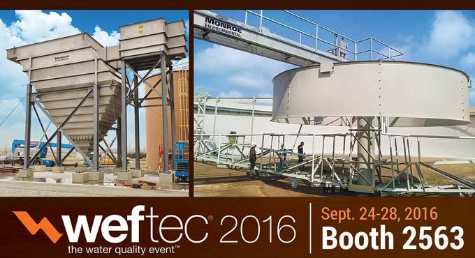 Monroe Environmental Booth 2563 at WEFTEC 2016