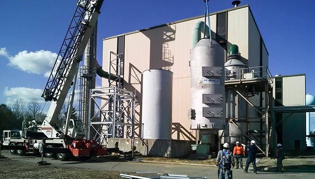 Packed Tower Scrubber installation
