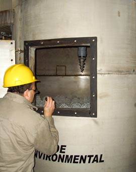 Monroe engineer performing field evaluation