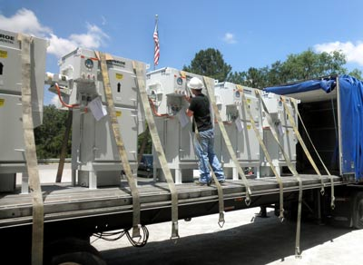 Oil mist collectors ready for shipment