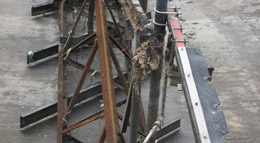 Condition of sludge rakes before rebuild