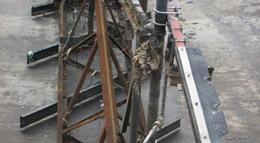 Condition of sludge rakes before rebuild