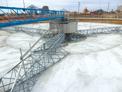 Rebuilt Primary Clarifier with new spiral scrapers ready to return to operation