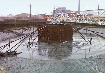 250 ft. Clarifier before rebuild