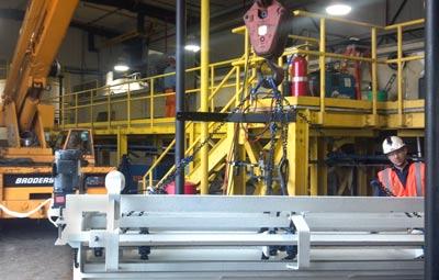API Separator retrofit with enhanced surface oil skimmer installation