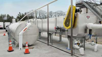 API Separator for FOG removal from snack chip production wastewater