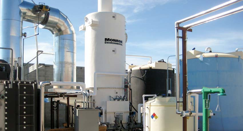 Packed Tower Wet Scrubber for HCl & Cl2 treatment following a thermal oxidizer