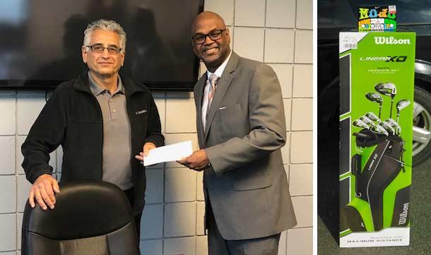 President Gary Pashaian presents check to Humane Society