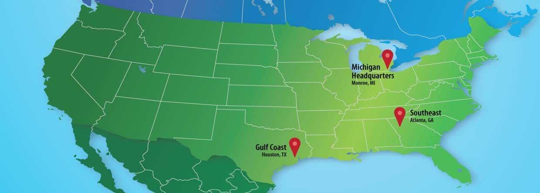 Map of Monroe Environmental locations