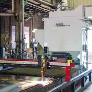 Dust Collector to capture exhaust from CNC plasma cutting operation