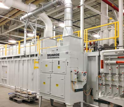 Monroe Mist Collector installed in an automotive plant