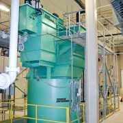 Landfill leachate clarifier
