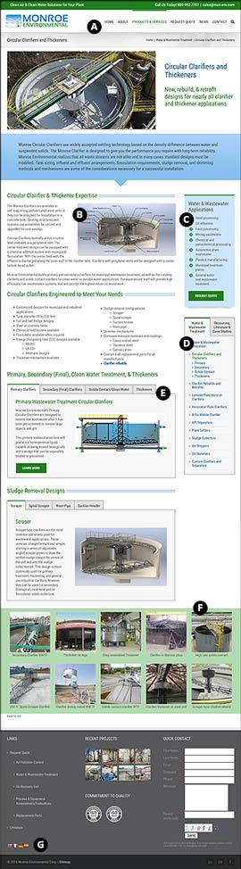 New website sample product page