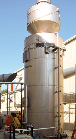 Air Scrubber final stage mist eliminator for glass coating operation