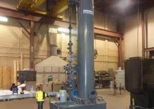 Amine Scrubber provides fume control for chemical transfer & tank venting operation