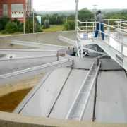 Solids Contact Circular Clarifier for lime softening at potable water plant