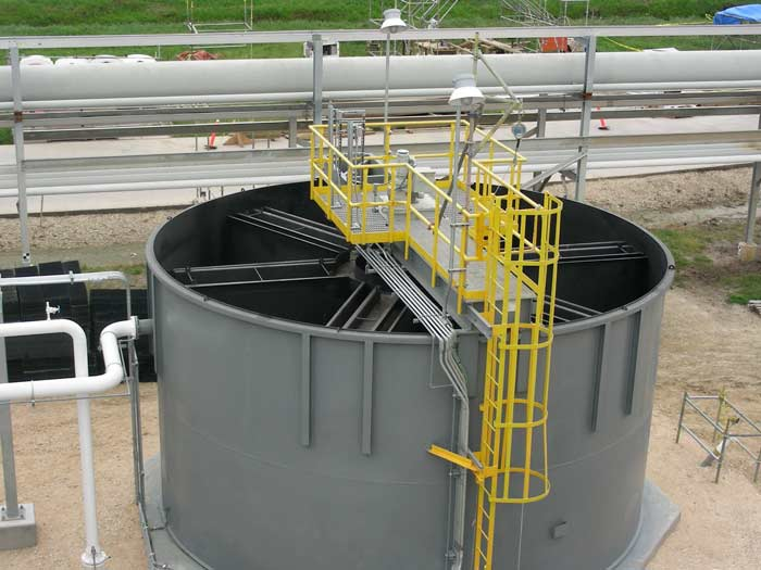 High rate Solids Contact Clarifier, view from above