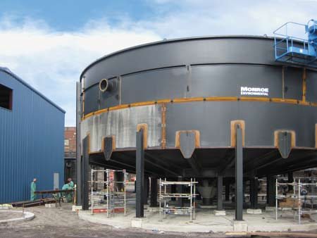 Installation and field coating of a Circular Thickener
