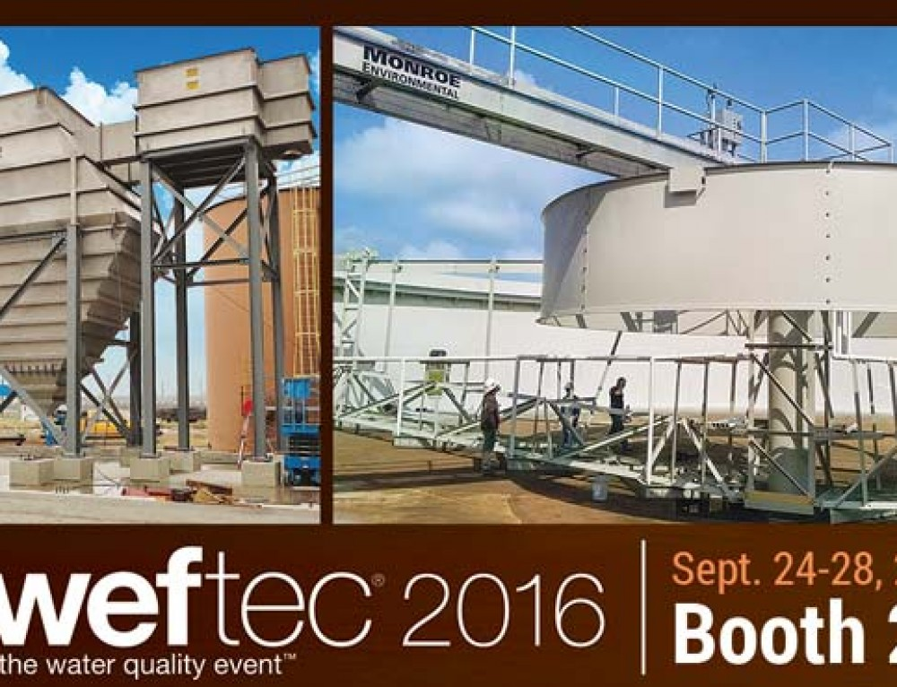 Monroe Environmental to Attend WEFTEC 2016