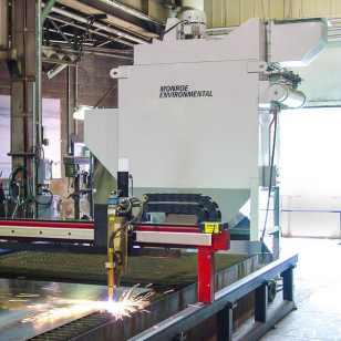 Industrial Dust Collector to capture exhaust from CNC plasma cutting operation