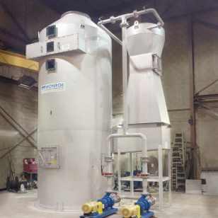 Venturi Wet Scrubber removes PM from dryer exhaust