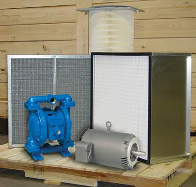 Air pollution equipment replacement parts