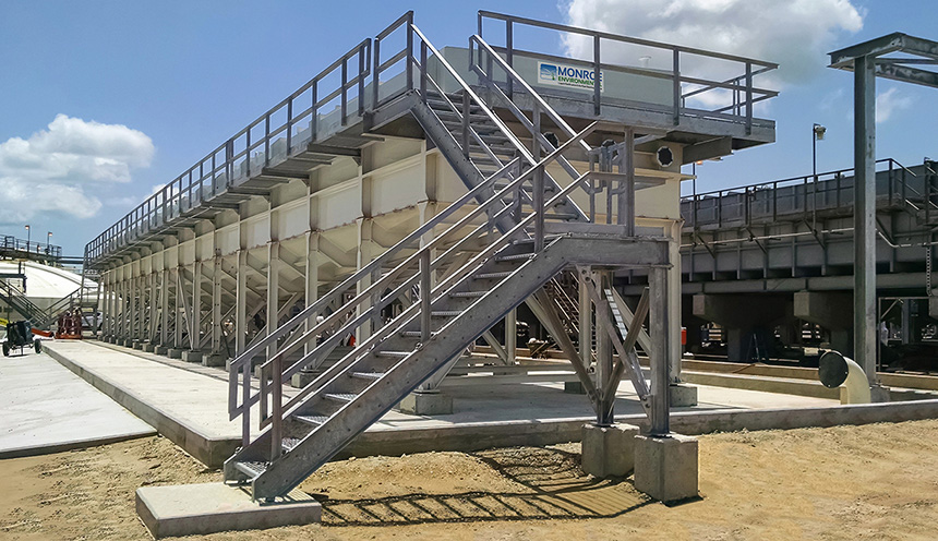 2,500 GPM API Separator at an oil refinery