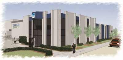 Rendering of Monroe Environmental building renovations-front view