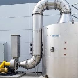 Carbon Adsorber for battery manufacturer's VOC abatement system