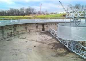 Primary Circular Clarifier installation