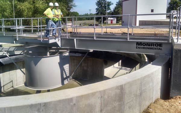 Circular Clarifier rebuild for wastewater treatment at a soft drink bottling facility