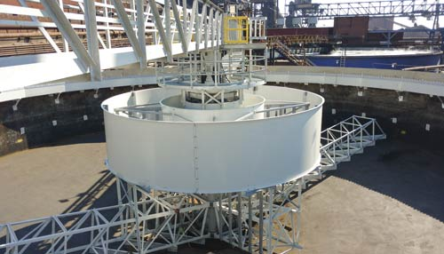 Circular Clarifier for the clarification and thickening of the blast furnace scrubber wastewater