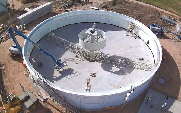 Circular Clarifier for dairy farm