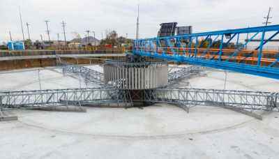 Primary Clarifier rebuild with spiral scrapers