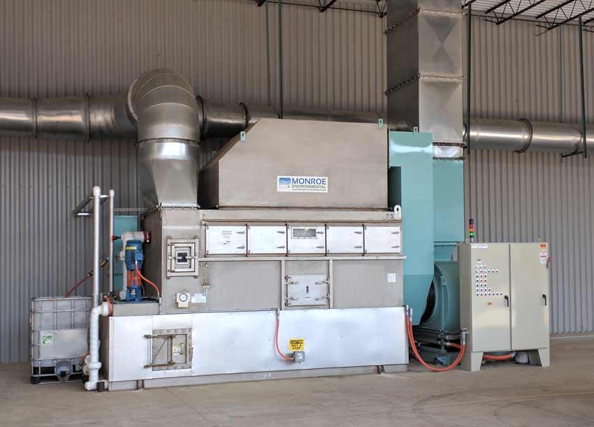 Dual Throat Venturi Scrubber captures fumes and PM for aluminum parts manufacturer