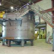 18 ft. steel tank Circular Thickener for an industrial steel manufacturer fully assembled in Monroe shop