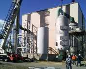 Packed Tower Scrubber for SO2 removal from waste incinerator exhaust, 316 stainless steel construction