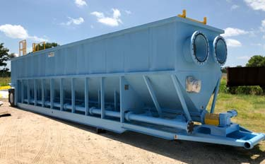 X-Flo Clarifier for temporary mobile water/wastewater treatment