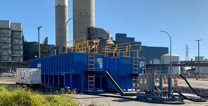 X-Flo Mobile Clarifiers for power plant