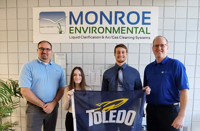 engineering co-op students at Monroe Environmental