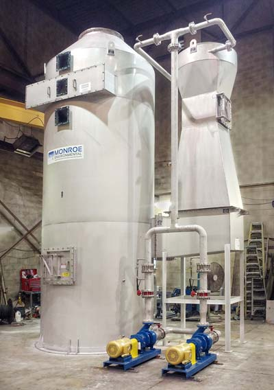 Wet Scrubber Treats Dryer Exhaust Monroe Environmental