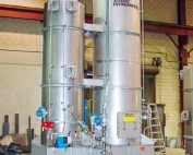 Sulfur dioxide scrubbing system with Quench Tower and Packed Tower Scrubber