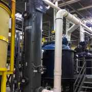 Fume Scrubber for removal of iodine fumes