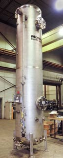 1,500 CFM Packed Tower Scrubber, Stainless Steel Construction for H2S removal