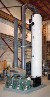 1,400 CFM Scrubbing System, UV Stabilized Polypropylene Construction for HCN Removal