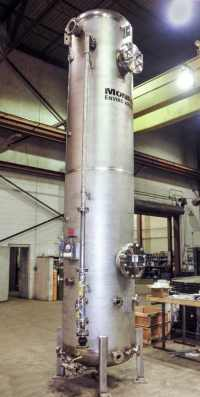 packed tower scrubber for syngas conversion