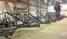 Assembly of 130 ft. clarifier rakes